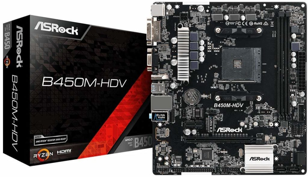 ASRock B450m-HDV for Gaming PC Build Under 40000