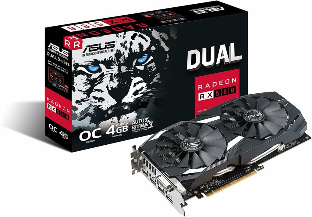 ASUS RX580 for Gaming PC Build Under 40000 INR