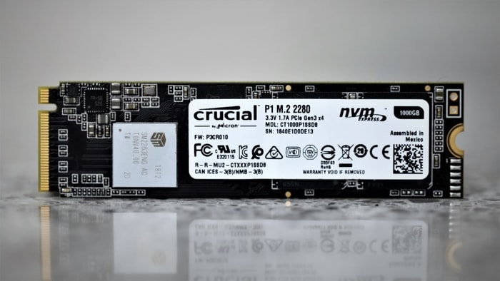Crucial P1 1TB NVMe SSD for High End Gaming PC Build
