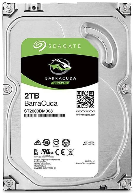 2 x 2TB Seagate Barracuda 7200 RPM HDD